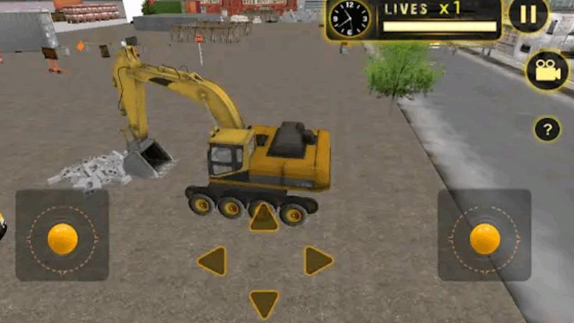 Real Heavy Excavator Crane
