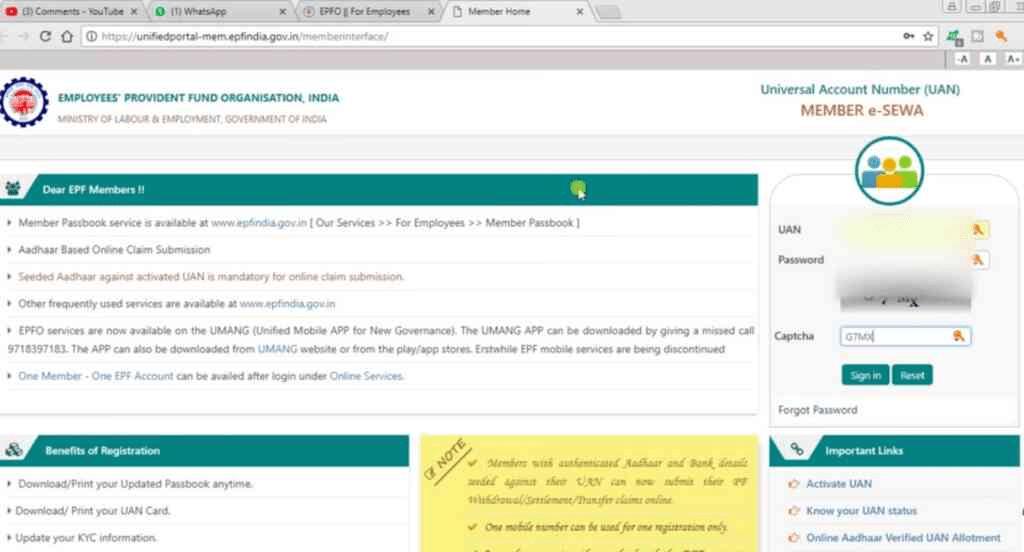 Open EPF Member Portal