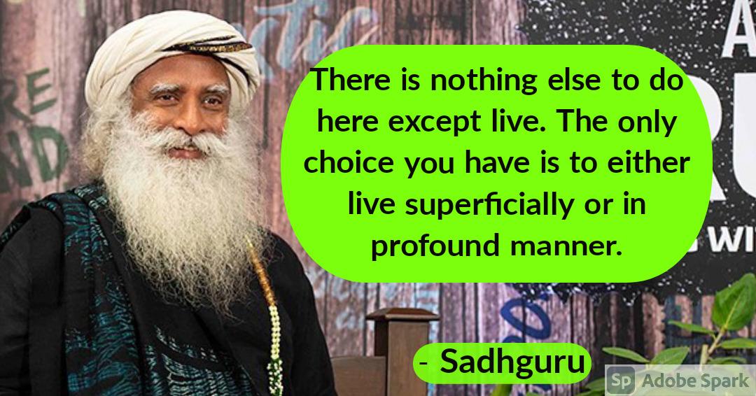 12. Sadhguru Quotes